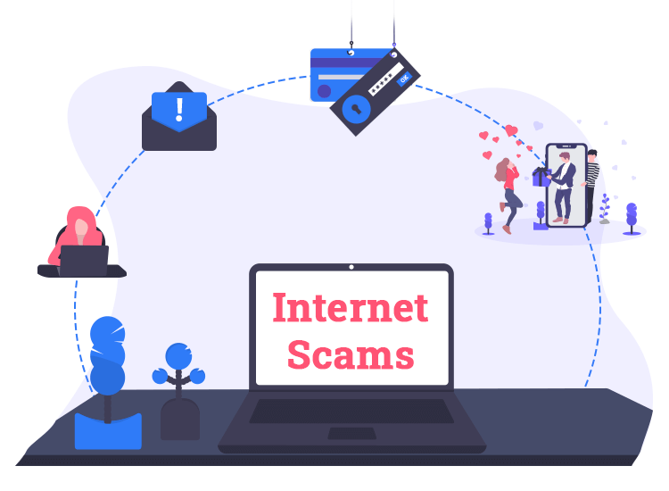 types of internet scams and protection tips